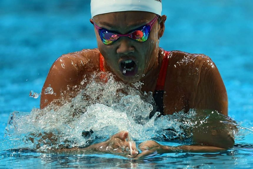 Japanese Kanako Watanabe competes in the semi-final 1 of the women's 200m individual medley swimming event at the 2015 FINA World Championships in Kazan on August 2, 2015.