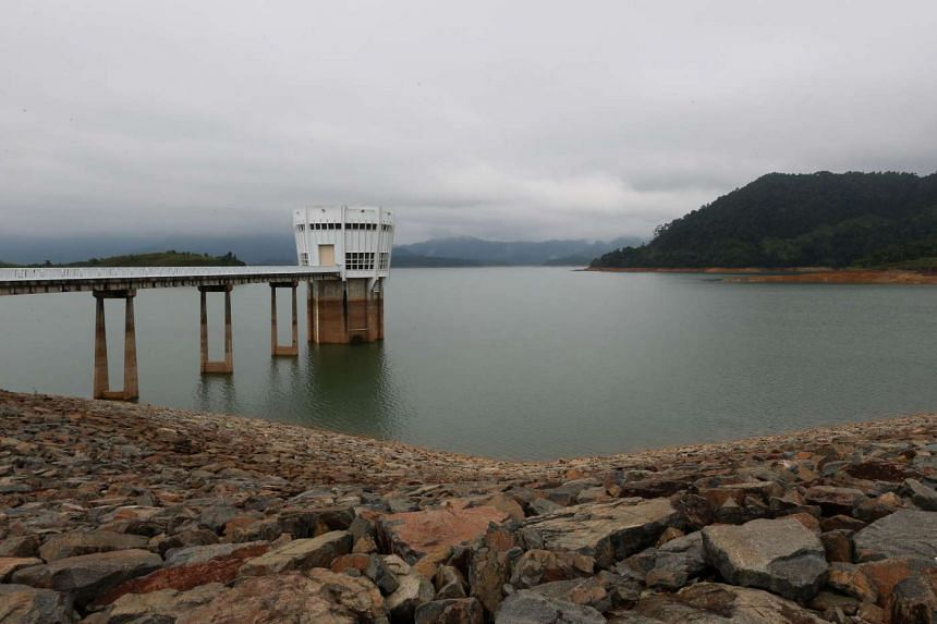 The Linggiu Reservoir in Johor has seen it's water levels steadily deplete to 54.5 per cent of its current capacity.