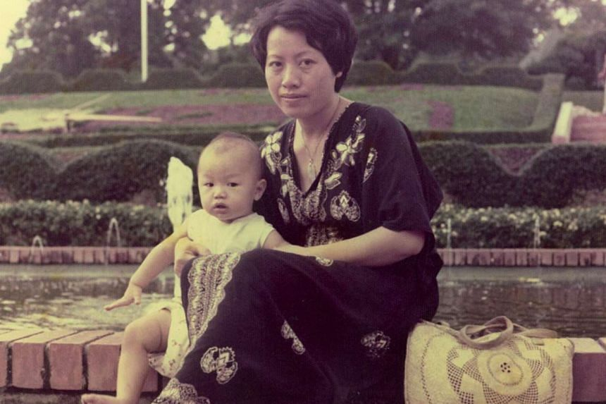 My life so far: Larry Peh as a baby with his mother.