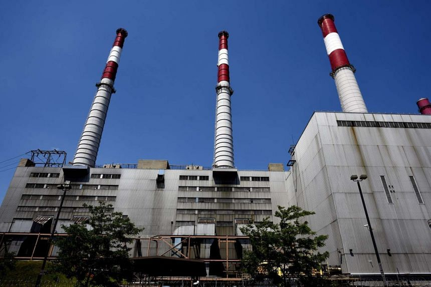 A view of the Ravenswood Generating Station, which uses natural gas, fuel oil and kerosene to power its boilers, in Long Island City, New York, on Aug 3.
