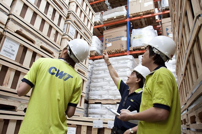 CWT was founded in 1970, and employs about 6,000 people. Its services include commodity logistics, freight forwarding, warehousing and defence procurement. The company yesterday reported a slowdown in trade services.