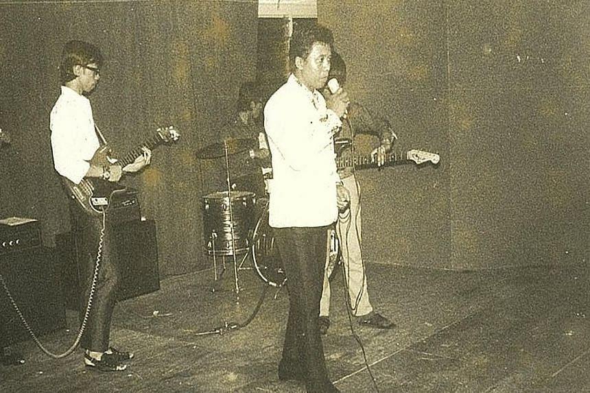 Musician Rudi Salim (above) is the son of singer Salim Ifi (left).
