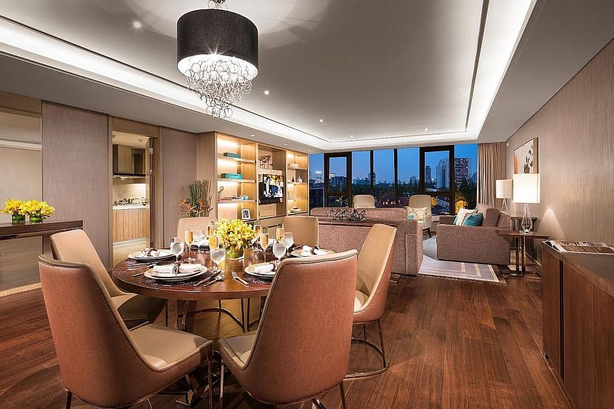 A serviced apartment in the newly opened Ascott Heng Shan Shanghai. Ascott has over 14,000 apartments across 24 cities in China.