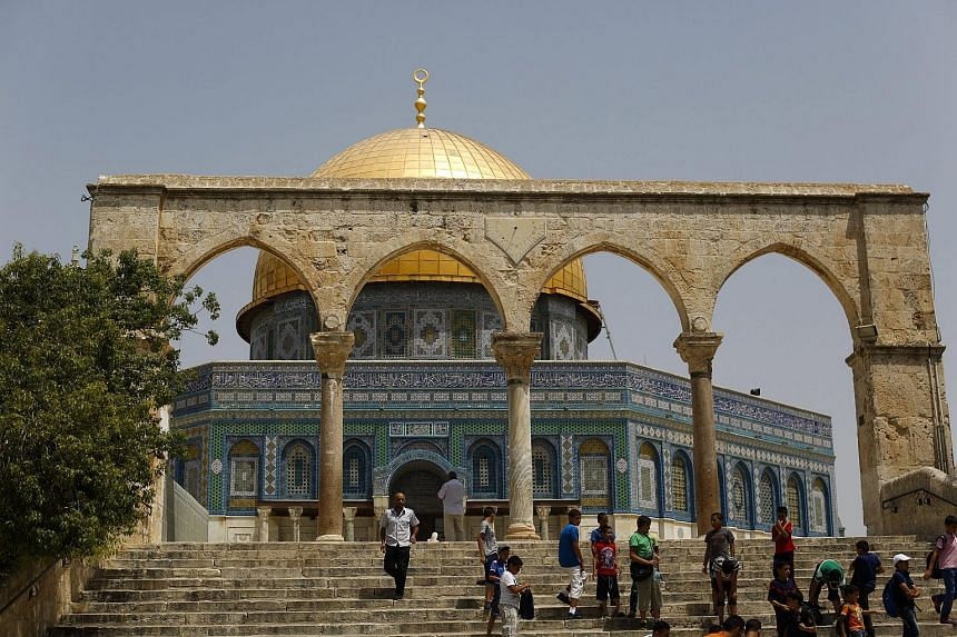 Non-Muslims are allowed to visit the compound, but Jews are forbidden from praying or displaying national symbols for fear of triggering tensions with Muslim worshippers.