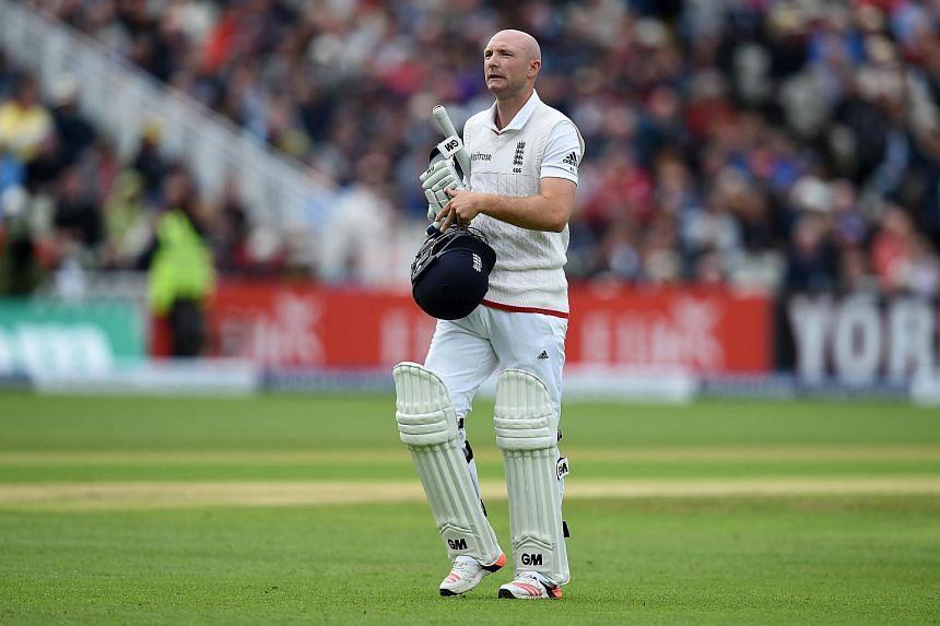 England batsman Adam Lyth.