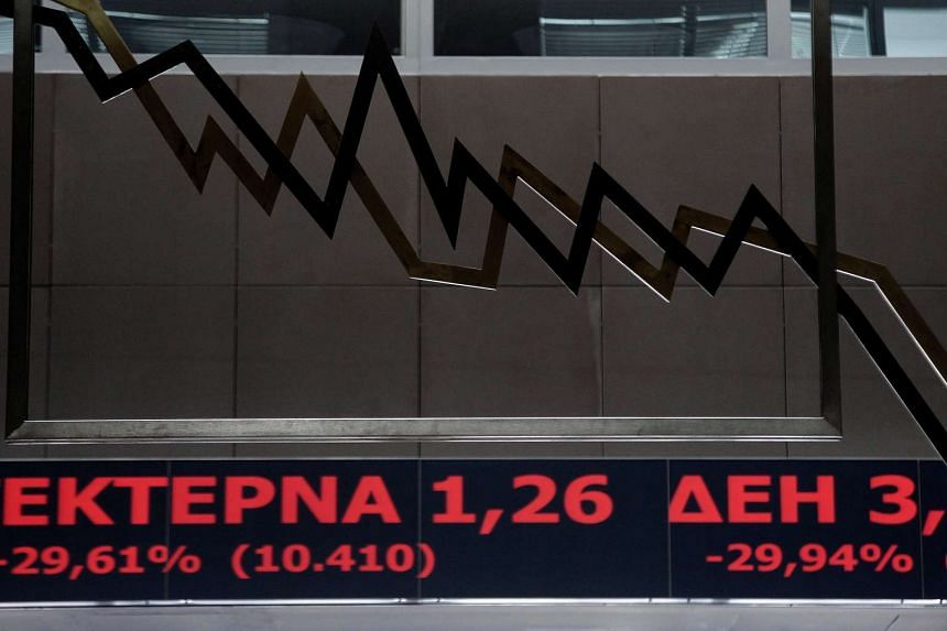 The banking index was down more than 29 per cent, while almost all other blue chip shares rose.