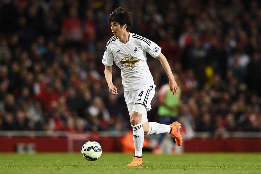 Swansea City midfielder Ki Sung Yueng.
