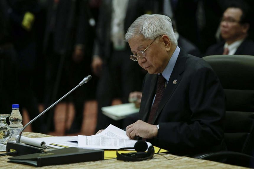 Foreign Minister Albert Del Rosario said the Philippines was ready to help deescalate tensions in the disputed region, if China and other claimant states agreed to be bound by the same conditions.