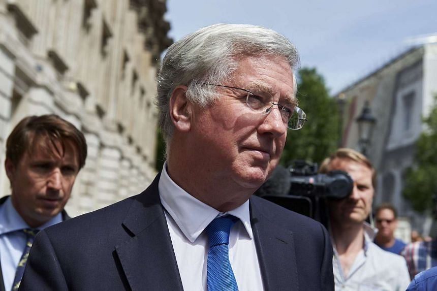 British Minister of Defence Michael Fallon at the Cabinet Office in central London on June 29, 2015.