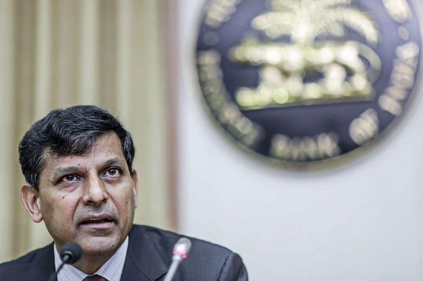 Raghuram Rajan, governor of the RBI, speaks during a news conference at the central bank's headquarters in Mumbai, India.