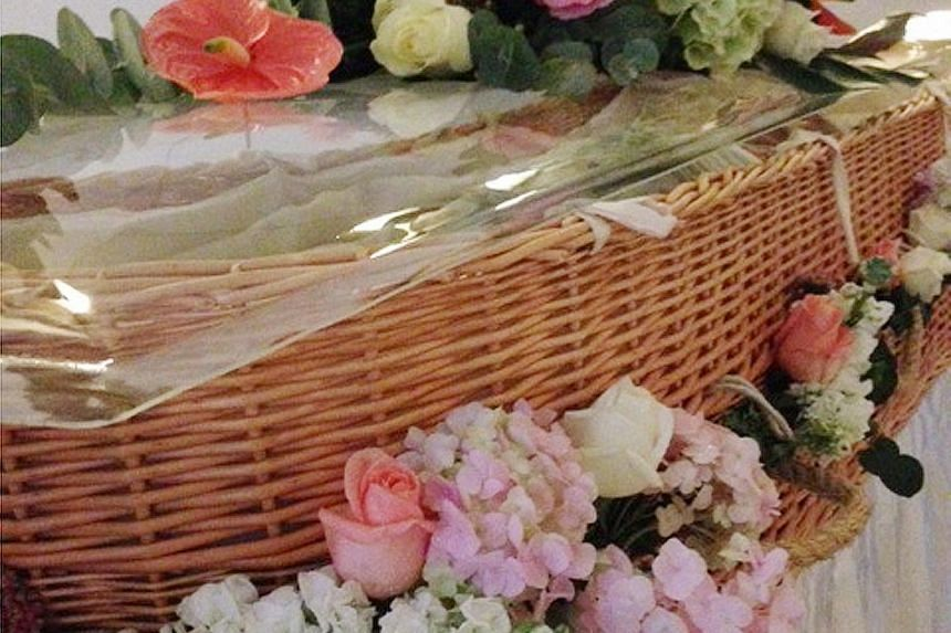 According to the writer, the cost of a wicker coffin (above) is lower than the price of the usual wooden ones from funeral firms here.