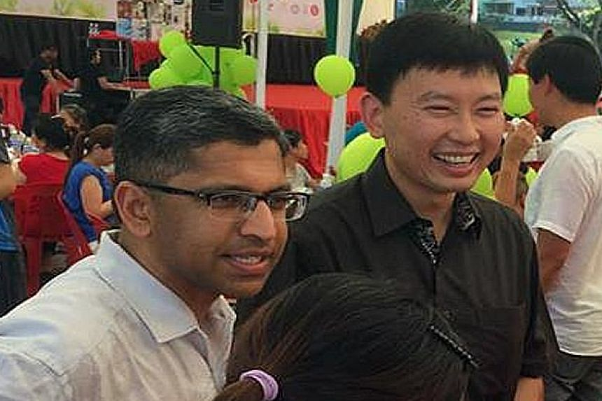 Mr Chee Hong Tat at a community event last month with Bishan-Toa Payoh GRC MP Hri Kumar Nair, who is expected to retire from politics at the next polls.