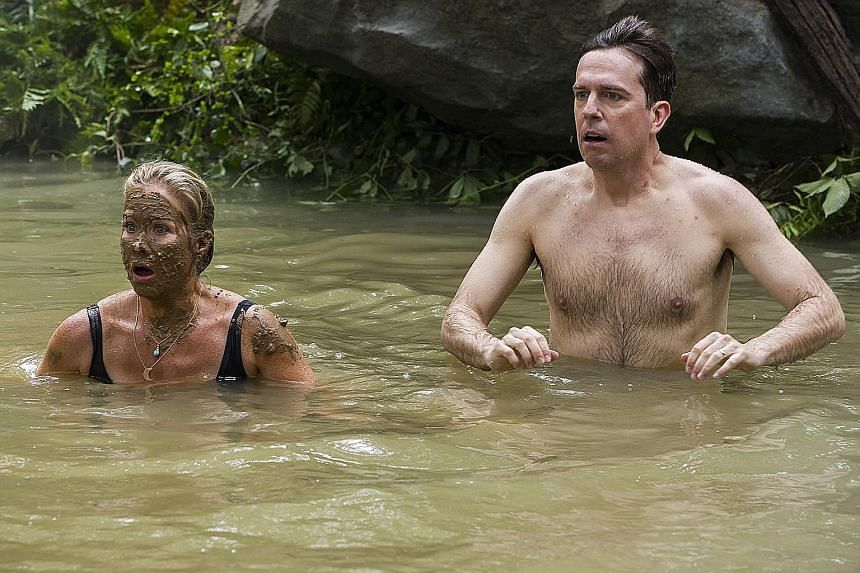 The Griswolds - Rusty (Ed Helms) and Debbie (Christina Applegate) mistakenly take a dip in a pool of sewage.