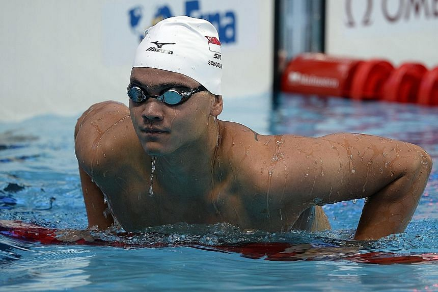 Joseph Schooling, who finished seventh in the 50m butterfly on Monday, will be swimming his pet event, the 100m fly, on Friday.