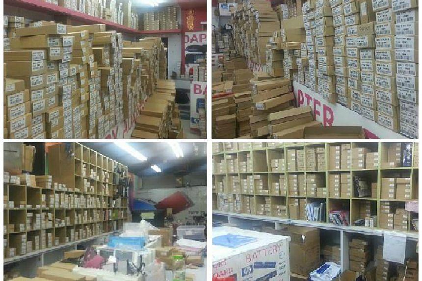 About 25,200 trademark-infringing computer parts were seized.