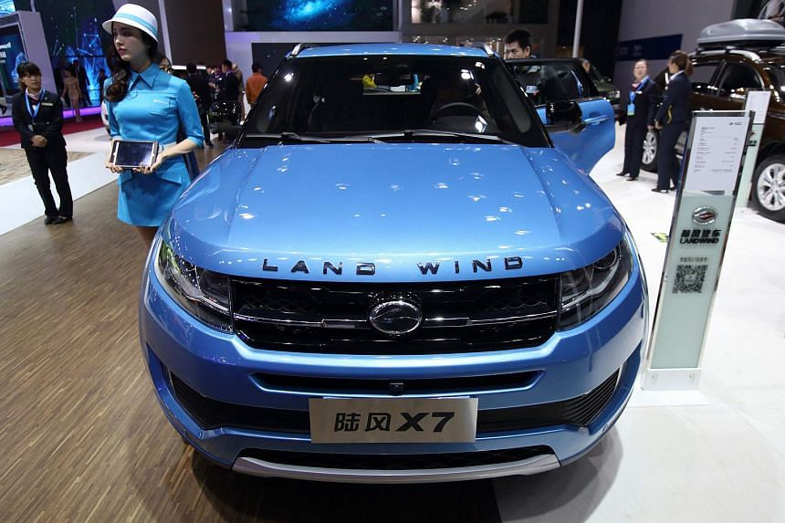 The Landwind X7 displayed at Auto Shanghai 2015 in April.