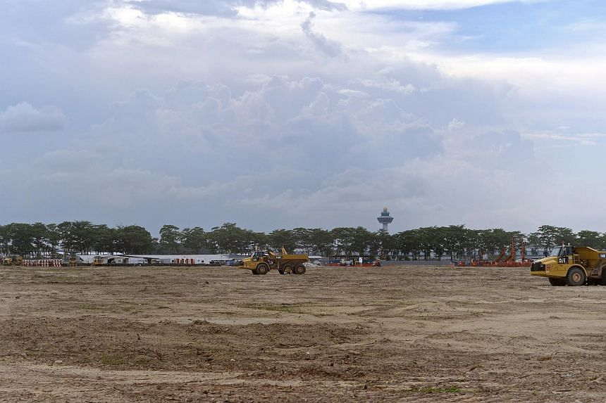 The construction of Changi Terminal 5.