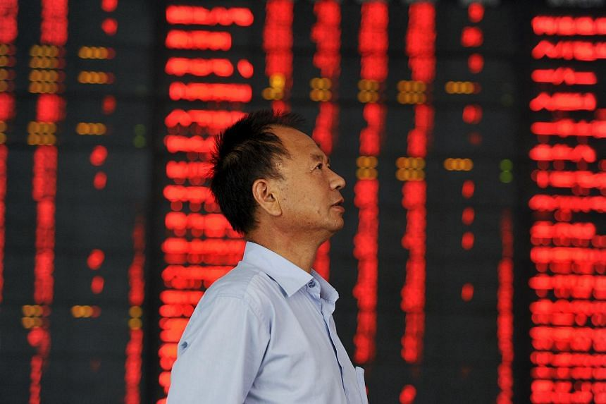 An investor at a brokerage house in Fuyang on Aug 4.