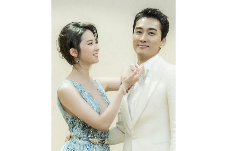 South Korean actor Song Seung Heon confirmed he is dating his Third Way Of Love co-star Liu Yifei on Wednesday, Aug 5, 2015.