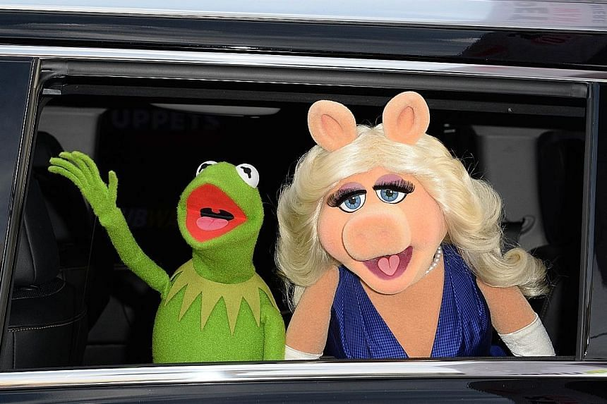 """Miss Piggy and Kermit the Frog (both above) will be """"seeing other people"""" while Zayn Malik (left) is calling off his engagement to Perrie Edwards."""