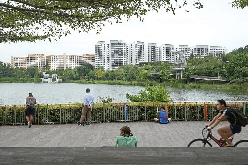 Yishun Pond is an icon of the estate, drawing residents there to stroll, exercise and take photographs.