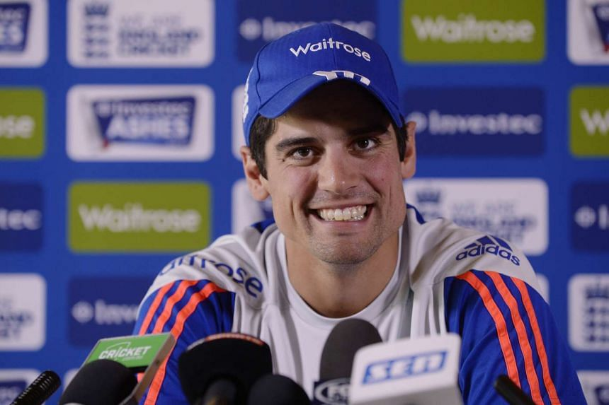 England's Alastair Cook during a press conference.