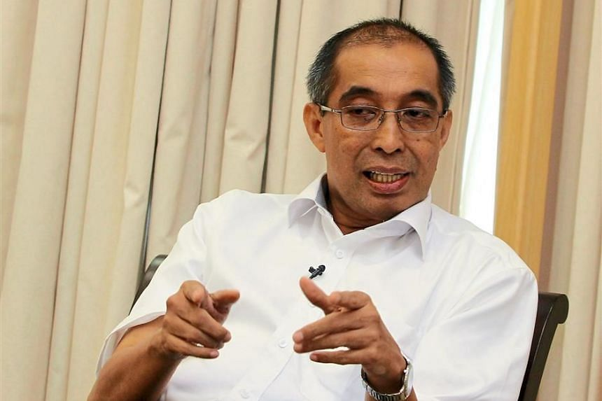 Malaysia's newly appointed Communica­tions and Multimedia Minister, Datuk Seri Dr Salleh Said Keruak, speaking to the media at his office in Putrajaya.
