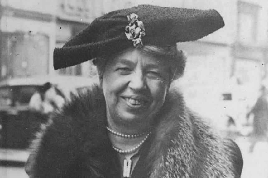 Eleanor Roosevelt on New York's Fifth Avenue in a Dec 20, 1940, photo.