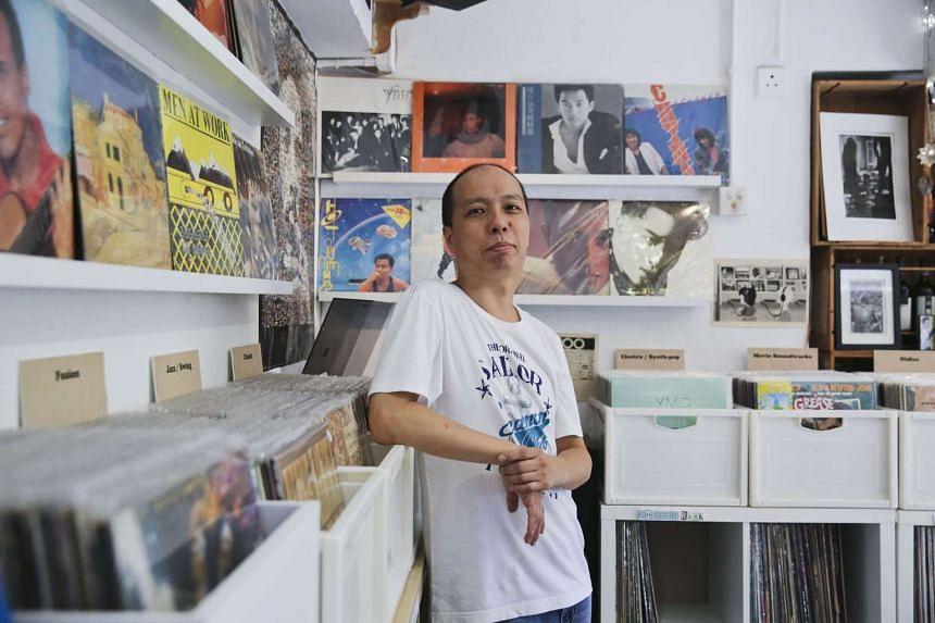 Mr Ho Hing Ming, who runs a record store on Hong Kong's Lamma Island.