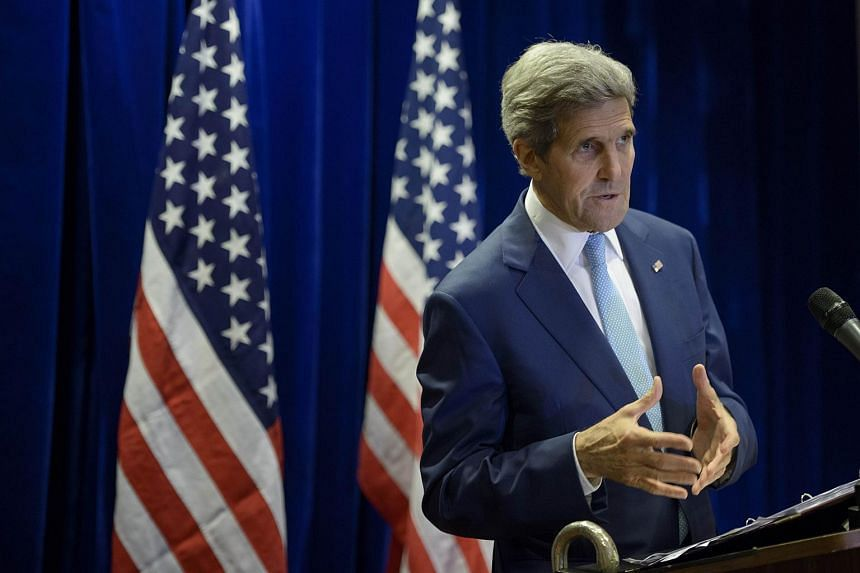 US Secretary of State John Kerry speaks during a press conference in Kuala Lumpur on Aug 6, 2015.
