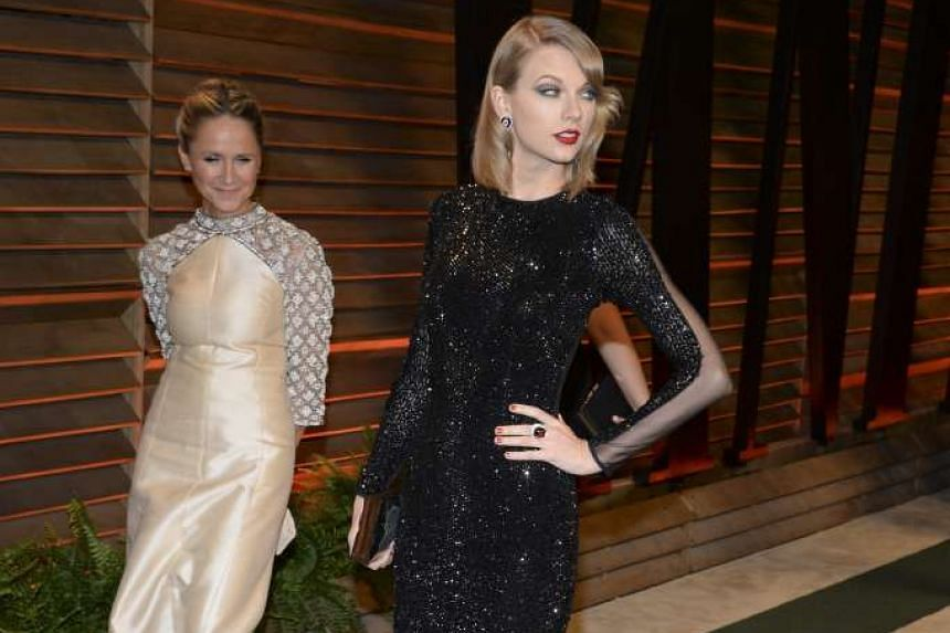 Taylor Swift arrives to the Vanity Fair after party of the 85th Academy Awards, hosted by Graydon Carter at the Sunset Plaza in West Hollywood, Calif. on March 2, 2014.