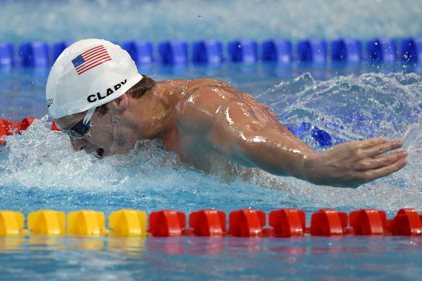 US Tyler Clary competes in the preliminary heats of the men's 200m butterfly swimming event at the 2015 FINA World Championships in Kazan on Aug 4, 2015.