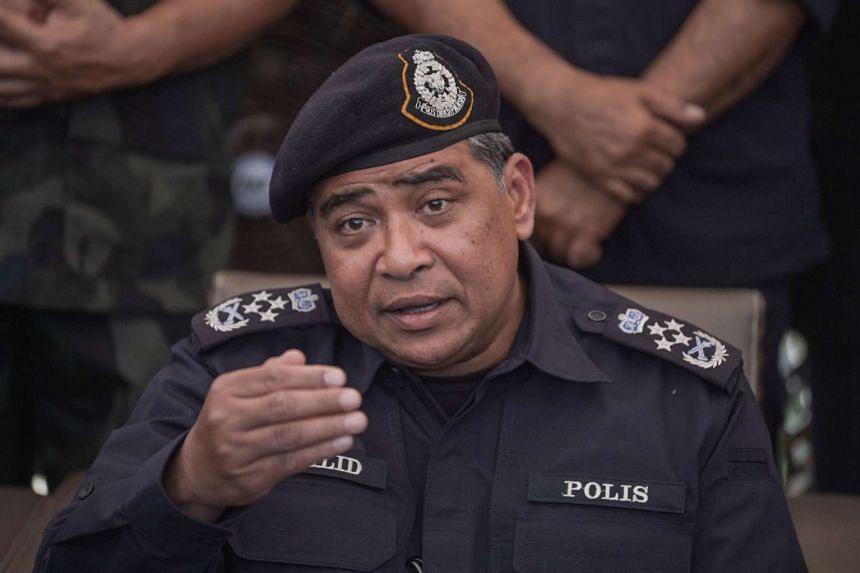 Malaysian national police chief Khalid Abu Bakar during a press conference on May 25, 2015.