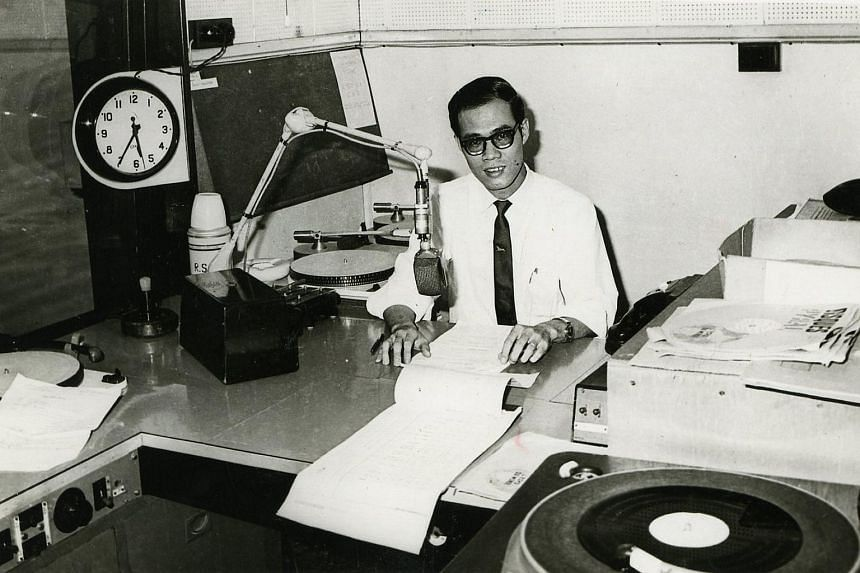 An old photo of Mr Steven Lee, at then Radio Singapore. This photo was taken in 1961.