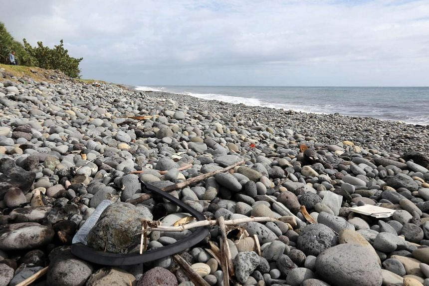 The coastline in Saint-Andre on the French island of La Reunion where a flaperon thought to be from missing Malaysia Airlines flight MH370 washed ashore.