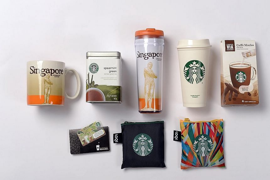 The first 170 people who sign up for the Sept 27 event at this weekend's SG50 Carnival will get a Starbucks goodie bag, which contains items such as a City Collection tumbler and mug, among others.