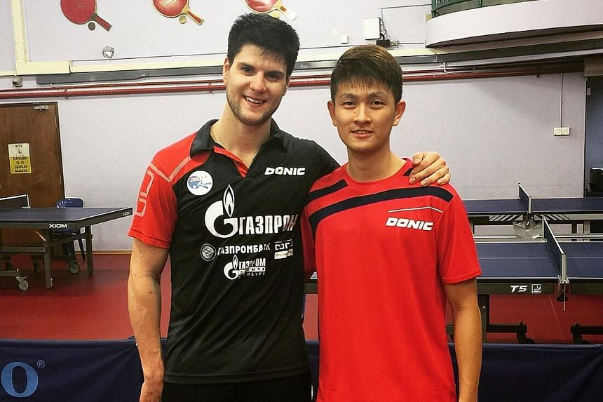Clarence Chew learnt much from world No. 6 Dimitrij Ovtcharov of Germany, who spent four days here training with the Singapore squad.