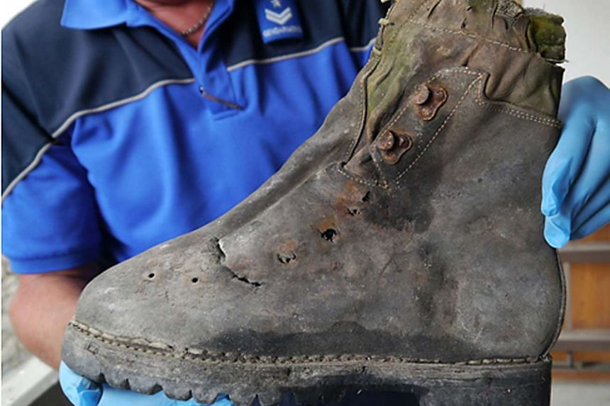A mountain shoe found next to the remains of two Japanese climbers who disappeared in the Swiss Alps in 1970.