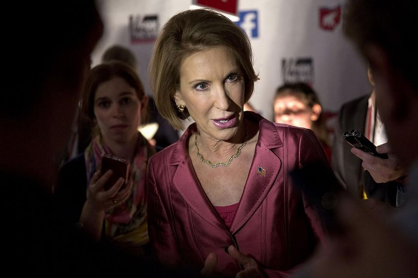Ms Carly Fiorina, former chairman and chief executive officer of Hewlett-Packard and a Republican presidential candidate.
