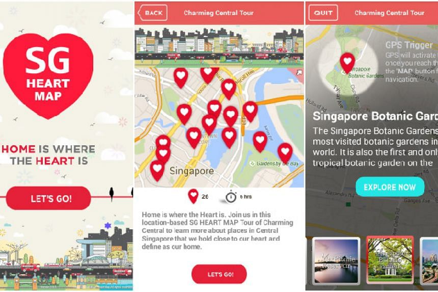 Sg Heart Map Releases Mobile Lication Featuring Self Guided Trails Around Singapore