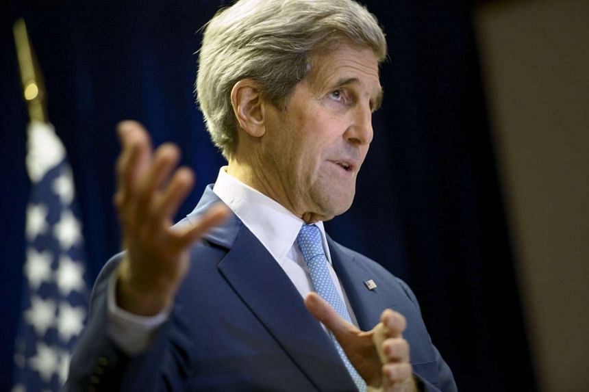 John Kerry speaking during a news conference in Kuala Lumpur, Malaysia.