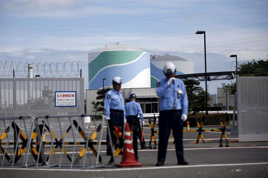 The entrance gate of Kyushu Electric Power's Sendai nuclear power station in Satsumasendai, Kagoshima prefecture, Japan.