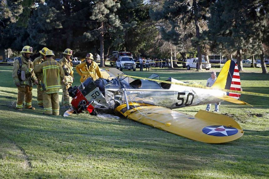 Actor Harrison Ford does not recall what happened before crashing his vintage plane (above) onto a golf course in March, says a report.