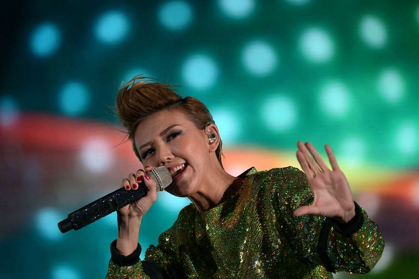 Stefanie Sun performing at Sing50 at the National Stadium on Aug 7, 2015.