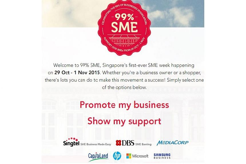The 99%SME campaign'swebsite, where SMEs can list retail promotions and Singaporeans can pledge to shop and dine locally.