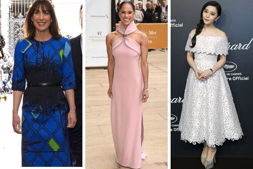 Others on the best-dressed list include (from left) Mrs Samantha Cameron, wife of the British Prime Minister, at No. 1, and dancer Misty Copeland at No. 3. Chinese actress Fan Bingbing (right) is on the Hollywood list.