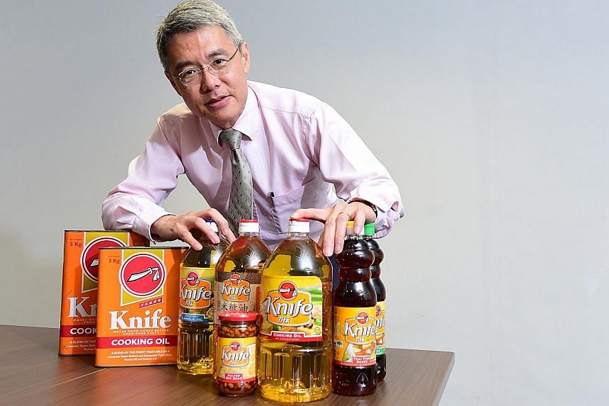Mr Whang Shang Ying, 54, executive director of Lam Soon who joined the family firm in 1994, believes that even though Knife cooking oil is a strong brand, it should stay affordable, as part of its strategy to stay in every Chinese kitchen and every g