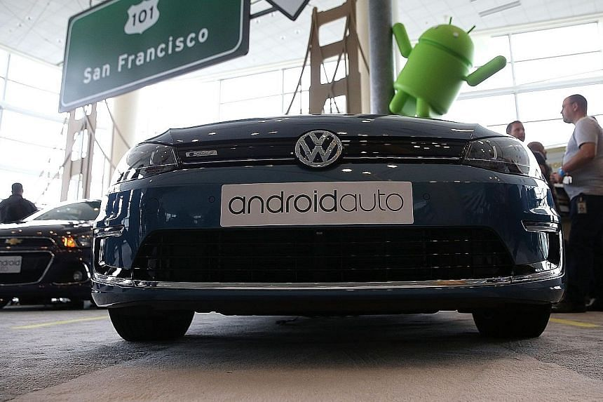 Volkswagen displayed its car fitted with Android Auto at the 2015 Google I/O conference in May in San Francisco.