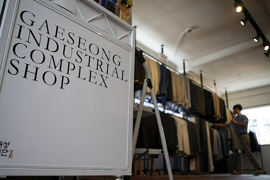 The Gaeseong (or Kaesong) Industrial Complex Shop in downtown Seoul, which opened in May, showcases North Korea and the skills of its workers, to present the country as a viable business partner to the prosperous South. It was set up by firms operati