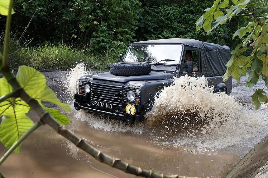 The Singapore Armed Forces' Land Rovers are old but still drive well.